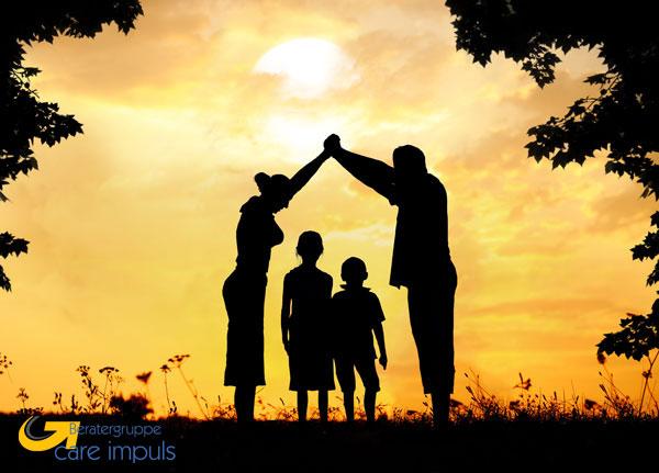 Familie-Dach